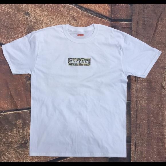 61f6dd70 Supreme Shirts | X Bape Camo Box Logo Tshirt | Poshmark